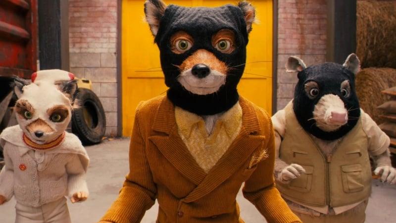 Fantastic Mr Fox Masks On