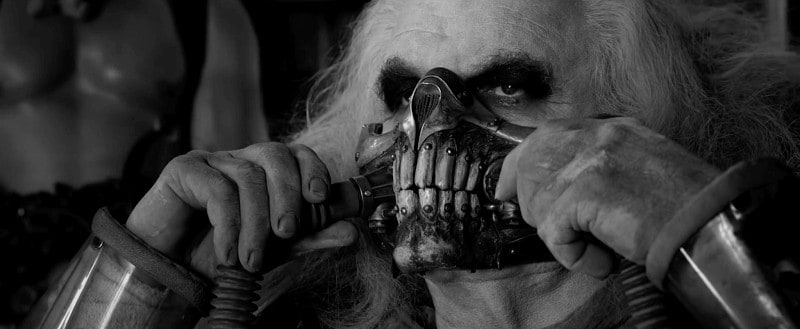 Fury Road Black And White Mask