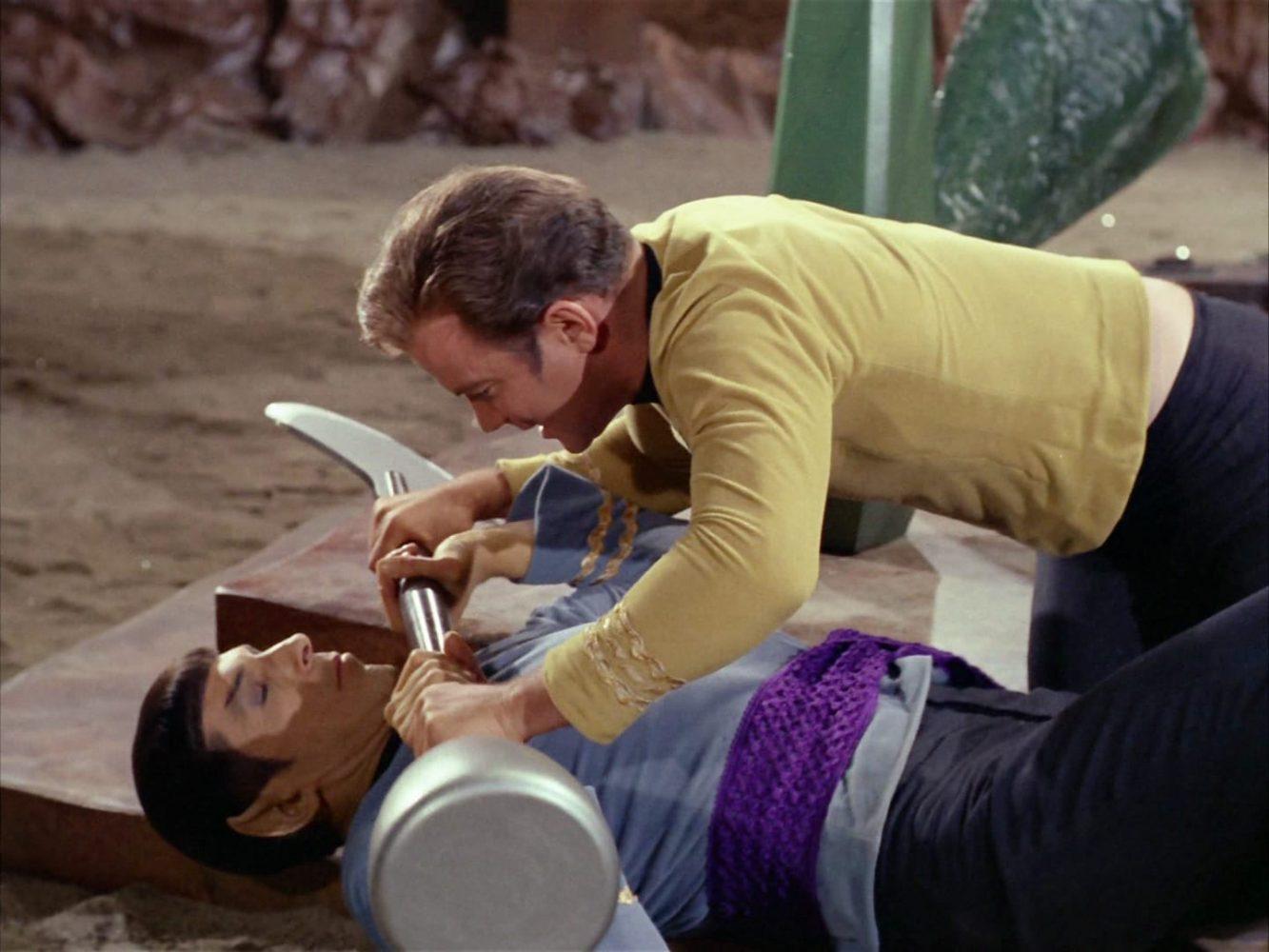 Amok Time Kirk On Spock